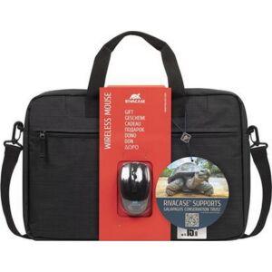 Oldaltáska notebook Rivacase 15, 6'' Wireless egér Regent 8038 fekete Iskolaszerek Rivacase 4260403573990