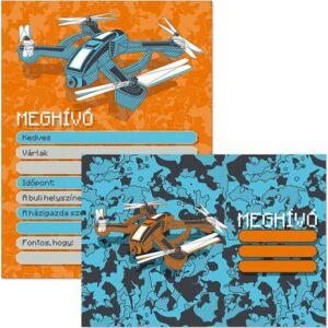 Party Meghívó borítékkal My drone (892) Drón 19 Ars Una kollekció !