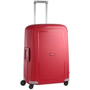 Samsonite bőrönd 69/25 S'CURE 4kerekű 69/25 49x69x29 SPINNER 49307/1235 piros
