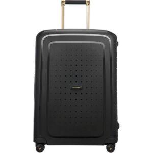 Samsonite bőrönd 69/25 S'CURE DLX SPINNER 69/25 50917/7246 Black/Gold Deluscious
