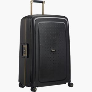 Samsonite bőrönd 75/28 S'CURE DLX SPINNER 75/28 50918/7246 Black/Gold Deluscious