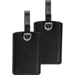 Samsonite bőröndcímke rectangle Luggage tag x2 121307/1041 Fekete