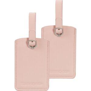 Samsonite bőröndcímke rectangle Luggage tag x2 121307/5266 Halvány rózsaszín