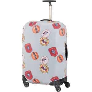 Samsonite bőröndhuzat M lycra Luggage cover 121226/D639 Heritage Patches