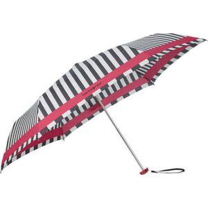 Samsonite esernyő Manual PATTERN / 3 sect. Manual FLAT csíkos 108946/7193 - Black-White, fekete-fehér