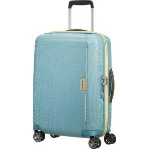 Samsonite kabinbőrönd 55/20 Mixmesh 40x55x20 2,6kg 4kerekű 106745/7086 niagara kék/sárga