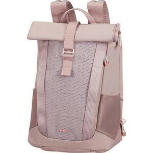 Samsonite laptopháti 15,6 2WM Lady ROLL TOP backpack női 112946/1630 Rózsa