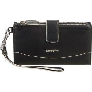 Samsonite pénztárca Női Leathy Slg 333 - L F W W+Dbl Zipper 131040/1041-Black