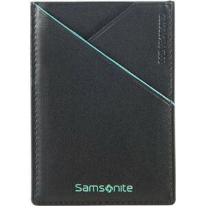 Samsonite pénztárca 7/10 Card Holder 7x11 93126/4068 fekete világoskék
