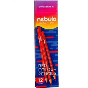 Színes ceruza Nebulo Piros Háromszögletű Jumbo