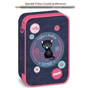 Tolltartó Ars Una többszintes Think Pink - cicás 18' prémium minőségű tolltartó
