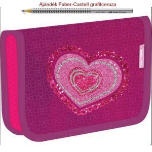 Tolltartó Belmil kihajtható SZÍV, HEART 335-74  Pencil Case 14x20,5x3,5cm