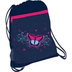 Tornazsák Belmil 20' Butterfly Jeans pillangós 336-91 43x45cm hálós sportzsák Gym Bag
