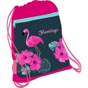 Tornazsák Belmil 20' Flamingó Paradise flamingós 336-91 43x45cm hálós sportzsák Gym Bag