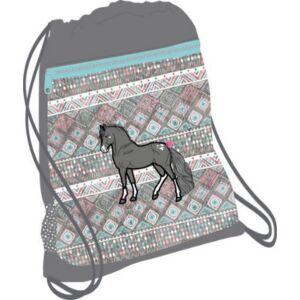 Tornazsák Belmil 20' Horse ló lovas 336-91 43x45cm hálós sportzsák Gym Bag