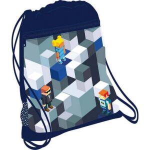 Tornazsák Belmil 21' Minecraft Bricks lego építőkockás 336-91 43x45cm hálós sportzsák Gym Bag