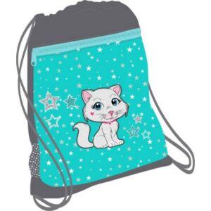 Tornazsák Belmil 20' Sweet Kitty cicás, cica mintás 336-91 43x45cm hálós sportzsák Gym Bag