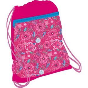 Tornazsák Belmil Speedy Pink Flower s 336-91 43x45cm hálós sportzsák Gym Bag
