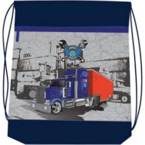 Tornazsák Belmil 20 Truckers kamionos, piros-kék-szürke 336-91 43x45cm hálós sportzsák Gym Bag