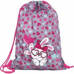 Tornazsák Pulse Bunny 40x30x1cm PES szürke/rózsaszín Iskolaszerek Pulse 121335