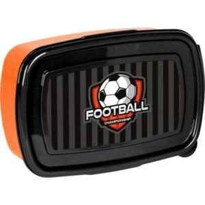 Uzsonnás doboz Paso fekete narancs focis Új 2020-21-es kollekció Paso