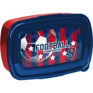 Uzsonnás doboz Paso piros-kék focis Új 2020-21-es kollekció Paso
