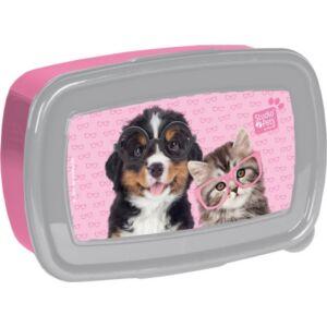 Uzsonnás doboz Paso szemüveges cica-kutya Rachael Hale