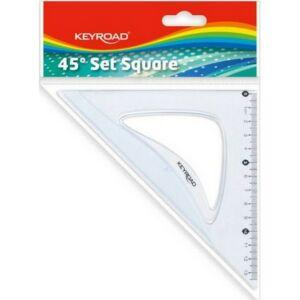 Vonalzó 13cm Keyroad KR971051 műanyag 45 fokos Iskolaszezonos termék