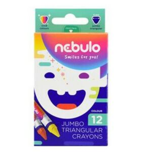 Zsírkréta 12 Nebulo Jumbo/vastag háromszög 12színű Írószerek Nebulo NJZSK-TR-12