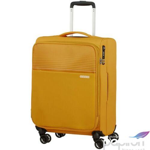 American Tourister kabinbőrönd Lite Ray 55/20 bővíthető bőrönd 130171/1371 Arany sárga, 4 kerekű, texti