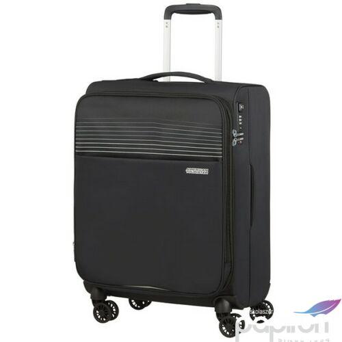 American Tourister kabinbőrönd Lite Ray 55/20 bővíthető bőrönd 130171/1465 Jet Black, 4 kerekű, textil