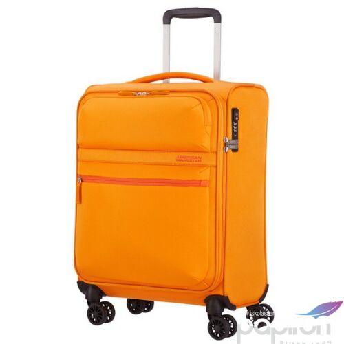 American Tourister kabinbőrönd Matchup 55/20 TSA 124709/1709 Popcorn sárga 4 kerekű, text