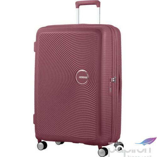 American Tourister bőrönd 77/2 Soundbox 77/28 bővíthető bőrönd 88474/2569 Sötét Burgundy, 4 kerekű