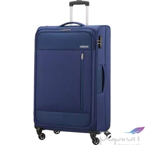 American Tourister bőrönd 80/3 Heat Wave 80/30 TSA 130669/6636 combat navy, 4 kerekű, text
