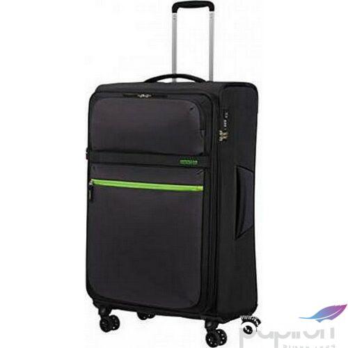 American Tourister bőrönd 80/3 Matchup 80/30 bővíthető bőrönd 124712/5197 Volt Black, 4 kerekű, textil