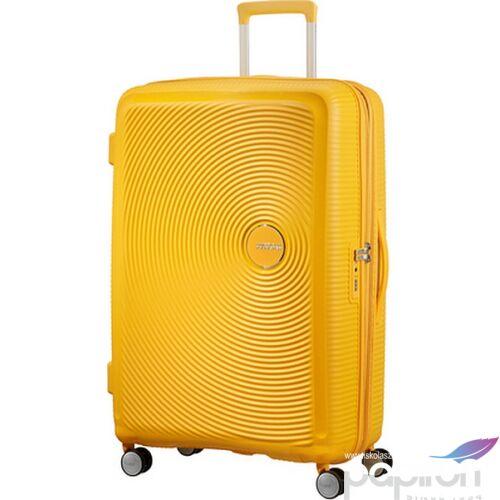 American Tourister bőrönd Soundbox spinner 77/28 Golden Yellow 88474/1371 Golden Yellow - 4 kerekű