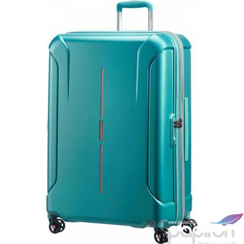 American Tourister bőrönd Technum 51x77x30/35cm 4kg 4kerekű 89304/1457 zöld/narancs