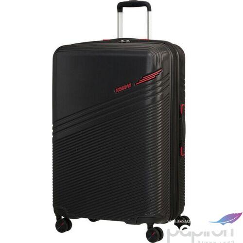 American Tourister bőrönd Triple Trace spinner 67/24 Tsa Exp 134658/1073 Black/Red