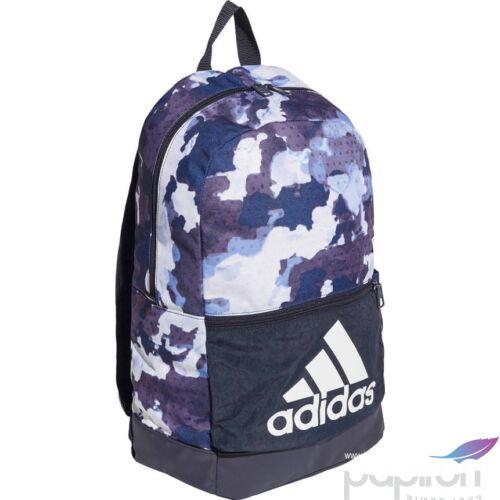 Hátizsák Adidas kék színű terep mintás, fehér márkajel DZ8279 CLAS BP BOS GW