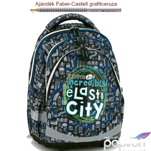 Iskolatáska Ars Una ergonómiku Elasti City 18' Hátizsák kamaszoknak Anatómiai - M hátizsák prémium minőség