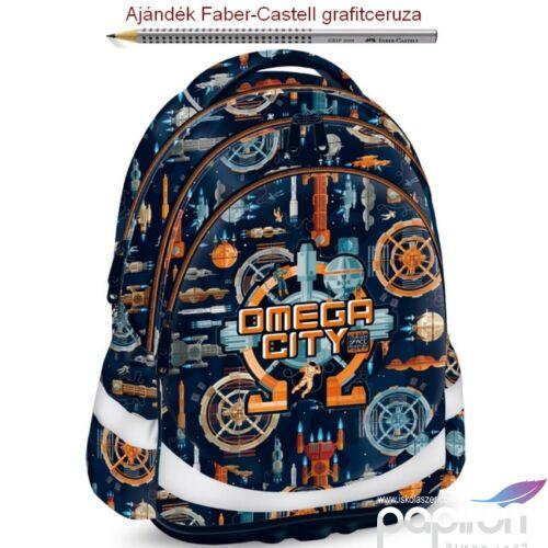 Iskolatáska Ars Una ergonómiku Omega City - Űrhajós 19 (908) Hátizsák Anatómiai - M hátizsák prémium minőség