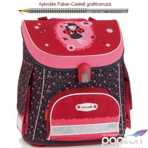 Iskolatáska Ars Una kompakt La Coccinelle - katica (839) 18' kompakt mágneszáras Prémium kollekció