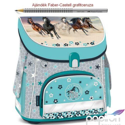 Iskolatáska Ars Una kompakt Morning Star - lovas 19 kompakt mágneszáras prémium minőség