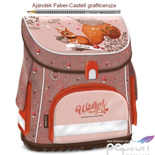 Iskolatáska Ars Una kompakt Woodland Magic - Erdő állatok mókus 17 kompakt mágneszáras Prémium kollekció