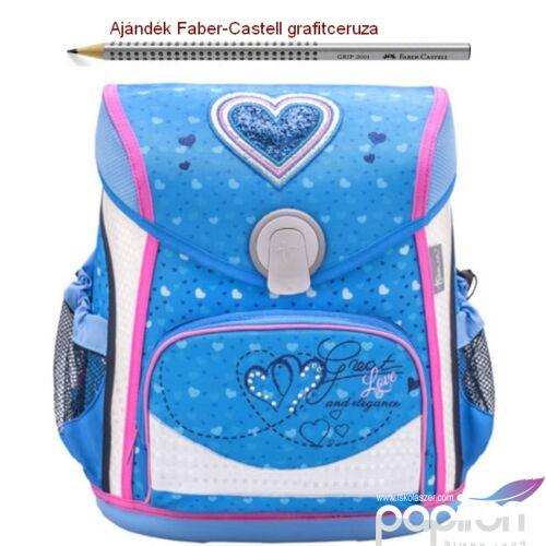 Iskolatáska Belmil ergonómikus 21' Cool Bag Jeans Heart 405-42 35x28x23cm kb. 19l - 1000g