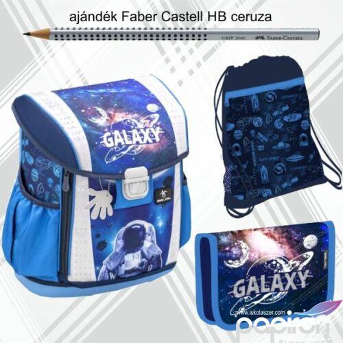 Iskolatáska szett Belmil 21' iskolatáska, tolltartó, tornazsák űrhajó Astronaut in Galaxy