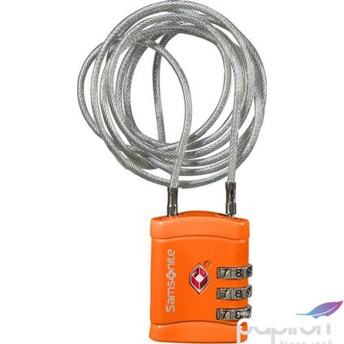 Samsonite biztonsági lakat Travell Accessor long cablelock tsa 121300/1641 Narancs
