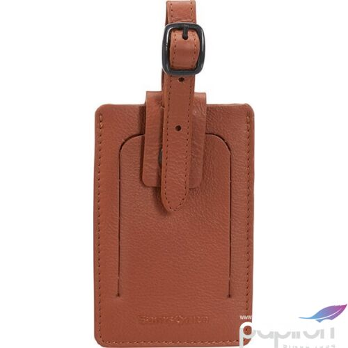 Samsonite bőröndcímke id leather Luggage tag 122294/1221 Konyak