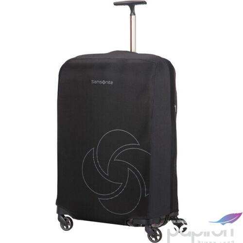 Samsonite bőröndhuzat L/M foldable Luggage cover 121223/1041 Fekete