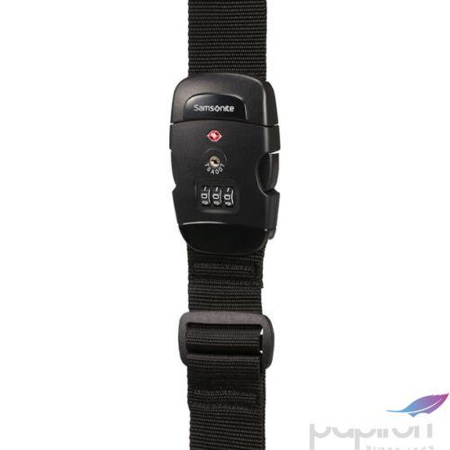 Samsonite bőröndszíj Luggage strap/tsa lock 121313/1041 Fekete